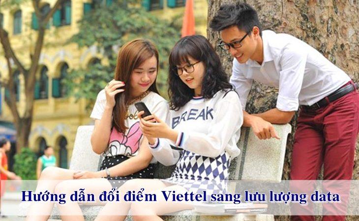Hướng dẫn đổi điểm Viettel sang lưu lượng Data